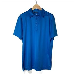 J Lindberg Polo blue shirt-size large